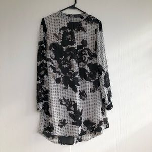 ASTR Long Sleeve Print Dress